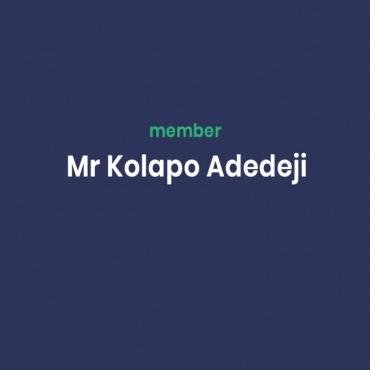 Mr Kolapo Adedeji