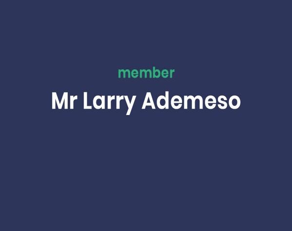 Mr Larry Ademeso